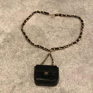 *SOLD* Vintage Chanel Micro Mini Flap Bag Belt
